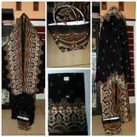 Mukena cantik mukena murah batik ada dua pilihan warna hitam dan cokla