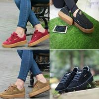 Sepatu kets puma rihana merah maron .colkat. full hitam. Termurah