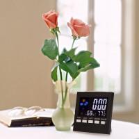 Jam Meja Alarm Kalender Suhu LED dengan SENSOR SUARA