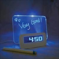 Jam Meja Alarm Meja LCD dengan MEMO BOARD