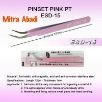 Pinset/Tweezer Anti Magnetic PT ESD-15 Pink Panjang 120 mm