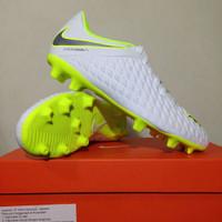 Sepatu Bola Nike Hypervenom 3 Club FG White Volt AJ4145-107 Original B