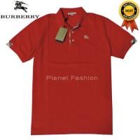 Kaos Polo shirt BURBERRY BRIT original import (Merah)