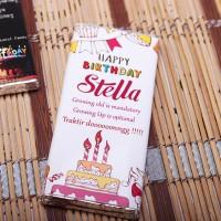 Kado Ulang Tahun Murah / Coklat Bar bisa tulis ucapan di bungkusnya