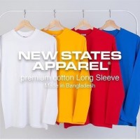 [Khusus XXL] New States Apparel Longsleeve 7280 NSA Premium Cotton