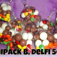 minipack delfi+scandia, coklat mini, parcel lebaran, coklat lebaran