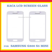 SAMSUNG G800 S5 MINI KACA LCD FRONT SCREEN GLASS WHITE 903049