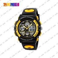 Jam Tangan Anak Digital Analog SKMEI 1163 Black Yellow Water Resis 50M