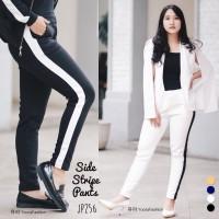 Side Stripe Pants Celana Olahraga Casual Wanita Jogger JP256