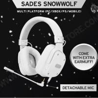 HEADSET GAMING SADES SNOWWOLF
