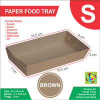 CRAFT Paper Tray / Piring Kertas Polos Ukuran S - 8 x 16.5 x 3 cm
