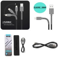 KABEL Vivan FL100 2.4A 1M Spring IPHONE 5/6/7 USB Data Cable for Apple