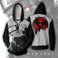 Jaket Hoodie Zipper Anime Naruto style kakashi