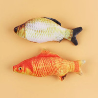 Boneka Ikan 3D size S 20cm Plush Fish Bantal Mainan Kucing B series