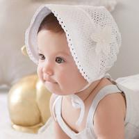 Topi bonnet bayi perempuan bunga /baby girl princess flower cute hat