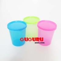 Souvenir Gelas Plastik Tutup (S) Tumbler Plastik Colorful Warna Warni