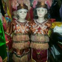 Pakaian adat anak papua saten halus Lk - Pr