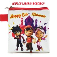 Dompet Pouch Amplop Angpao Fitrah THR Lebaran Idul Fitri BOBOBOI MERAH