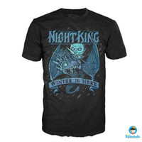 Funko POP! Tees Game of Thrones - Kings Ice Dragon (Night King) SIZE S