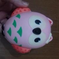 Squishy Owl Burung Hantu Roumang Pink