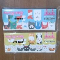 Memo Post It Cute Cat dan Pinguin Kartun Sticky Note Memo Marker