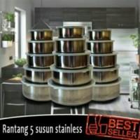 rantang susun 5 stainless / protect fresh box