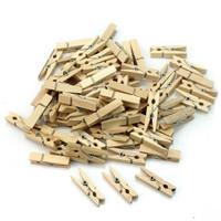Wooden clip polos 3,5cm / penjepit foto polos 3,5cm