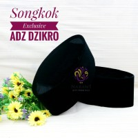 Songkok Exclusive Adz Dzikro Hitam Polos AC Peci Kopyah Kopiah Haji