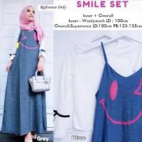 BAJU WANITA overall gamis set tunik blouse putih hijab muslim baju