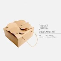 Clover Box Isi 1 toples - Kotak Kue Kering Parcel