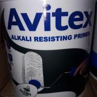 Avitex alkali primer. cat dasar lapisan tembok luar.