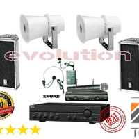 Paket Sound System TOA Colom ZS 102 C - Corong ZH 615 S