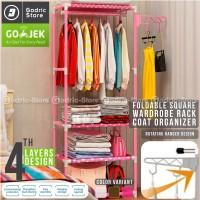 Square Steady Stand Hanger Rak Buku / Rak Pakaian Baju / Rak Serbaguna