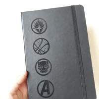 Notebook Note Book Plain Buku Tulis Avengers Hard Cover A5