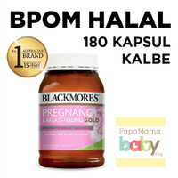 Blackmores Pregnancy Gold 180 Capsule Black More Mores Vitamin Hamil