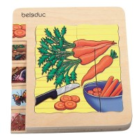 """Mainan Anak - Beleduc - Layer Puzzle """"Carrot"""""""