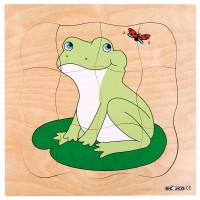 Mainan Anak - Educo - Growth puzzle - frog