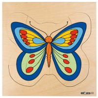 Mainan Anak - Educo - Growth puzzle - butterfly