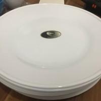 Piring Ceper Melamix /semi-melamin Ukuran 10 inch Warna PUTIH Merk GBU
