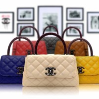tas import wanita   TAS CHANEL TOP HANDLE  import batam   branded MAXI
