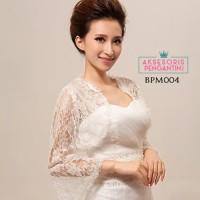 Bolero Pesta Pengantin Putih Modern l Cardigan Wedding Wanita -BPM 004