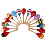 Marakas Kayu Mainan Alat Musik Bayi Icik Baby Rattle Stick Maracas