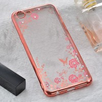 CASING OPPO A83 / OPPO A3S SILICON FLOWER DIAMOND BLING SOFT BACK CASE