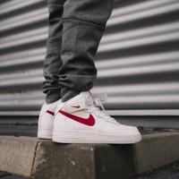 Sepatu Nike Air force 1 Mid 07 Wite red - Premium High Quality