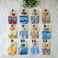 Kaos Kaki Bayi Boneka 3D Baby Laki Laki Perempuan Anti Slip + Gelang