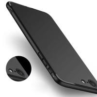 soft case casing matte black iphone 6/6s/6+/6s plus/7/7 plus (hitam)