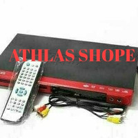 DVD player Airlux USB Dan 3 macam warna,,, Hitam, merah, orange