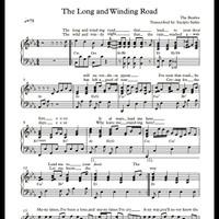 Buku Musik: Piano Sheet: The Long And Winding Road / The Beatles