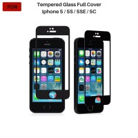 Iphone 5 / 5S / 5SE / 5C Tempered Glass Full Cover Full Color