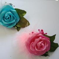 Jepit rambut mawar satin untuk anak dan dewasa cantik imut dan lucu